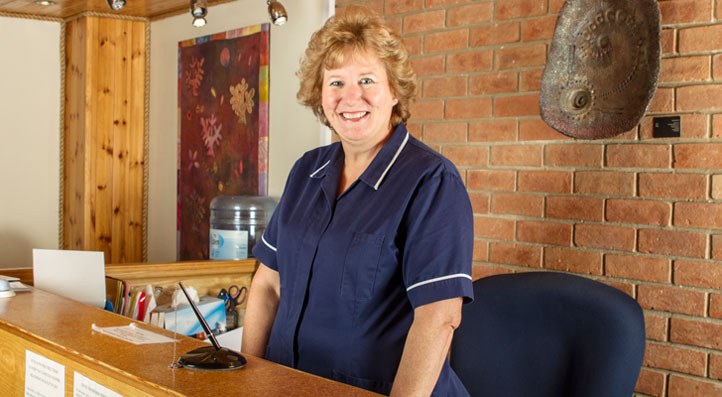 Wendy Green - Receptionist at the Fairbourne Clinic Newbury